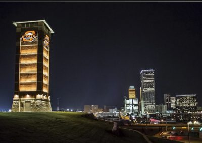 Alaback Design OSU Tulsa Signature Gateway Tower 2