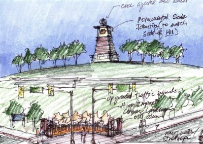 Alaback Design OSU Tulsa Signature Gateway Tower Render 2