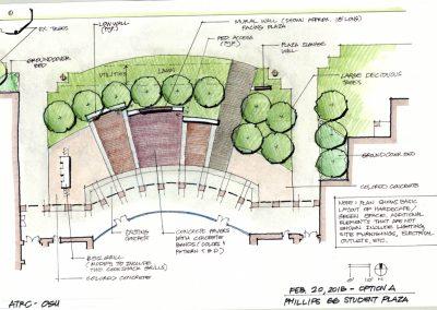 Alaback Design Phillips 66 Student Plaza Render 2